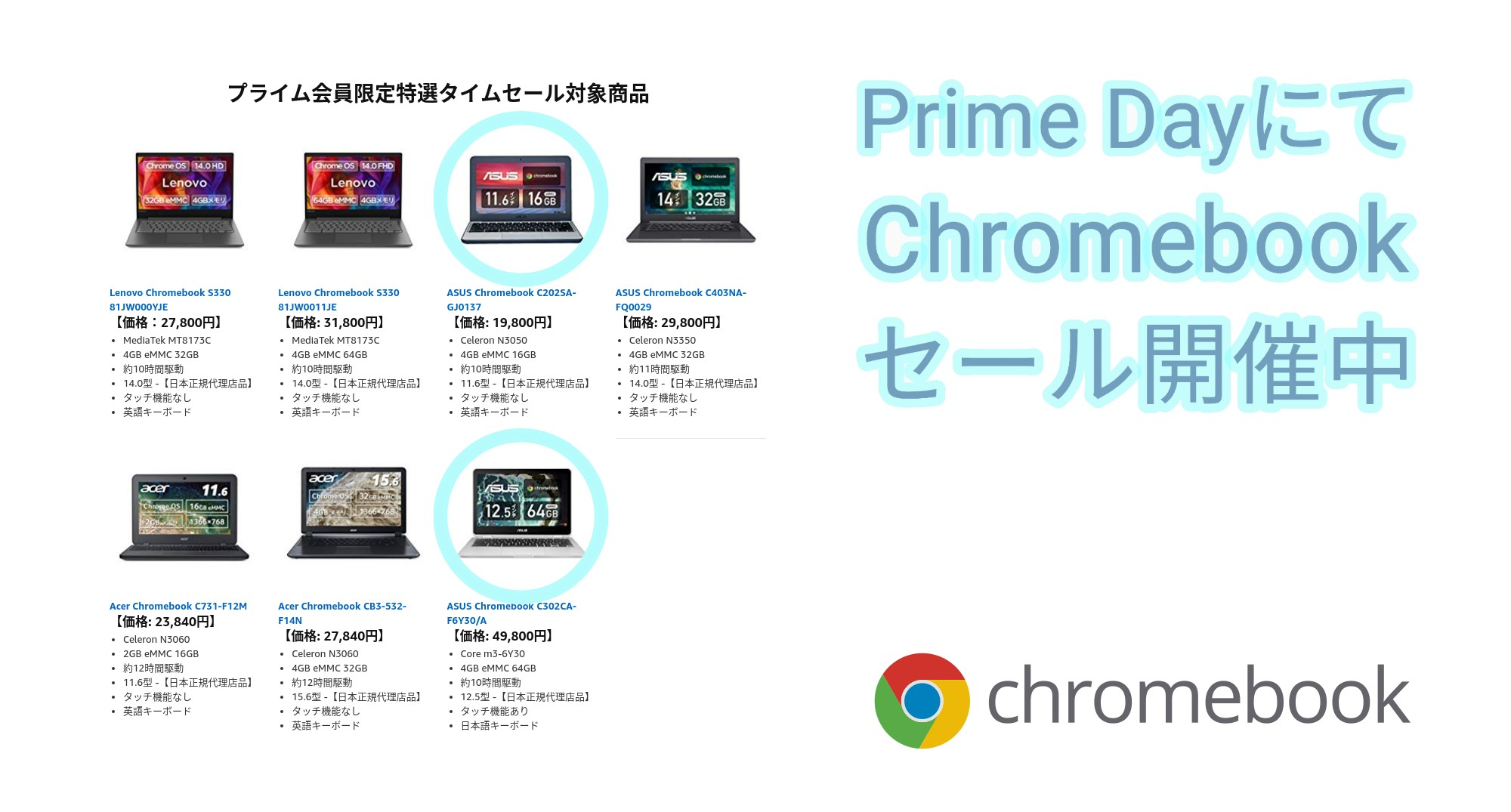 Chromebook on Prime Day 2019